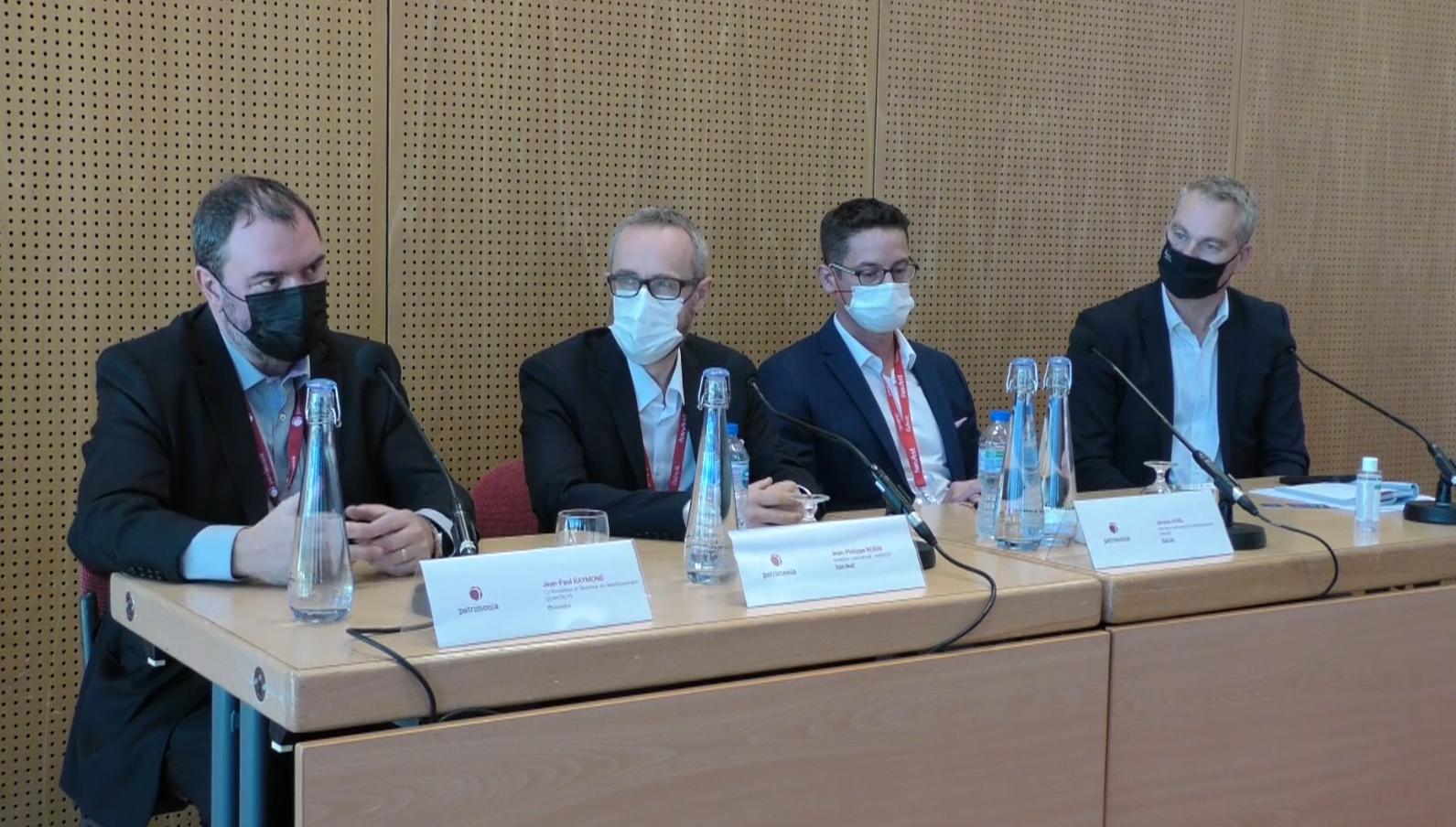 Photo lors du débat d'expert lors de Patrimonia 2021