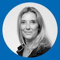 Françoise Potiez de CIC MS présente sur son stand à Quantalys Inside 2022